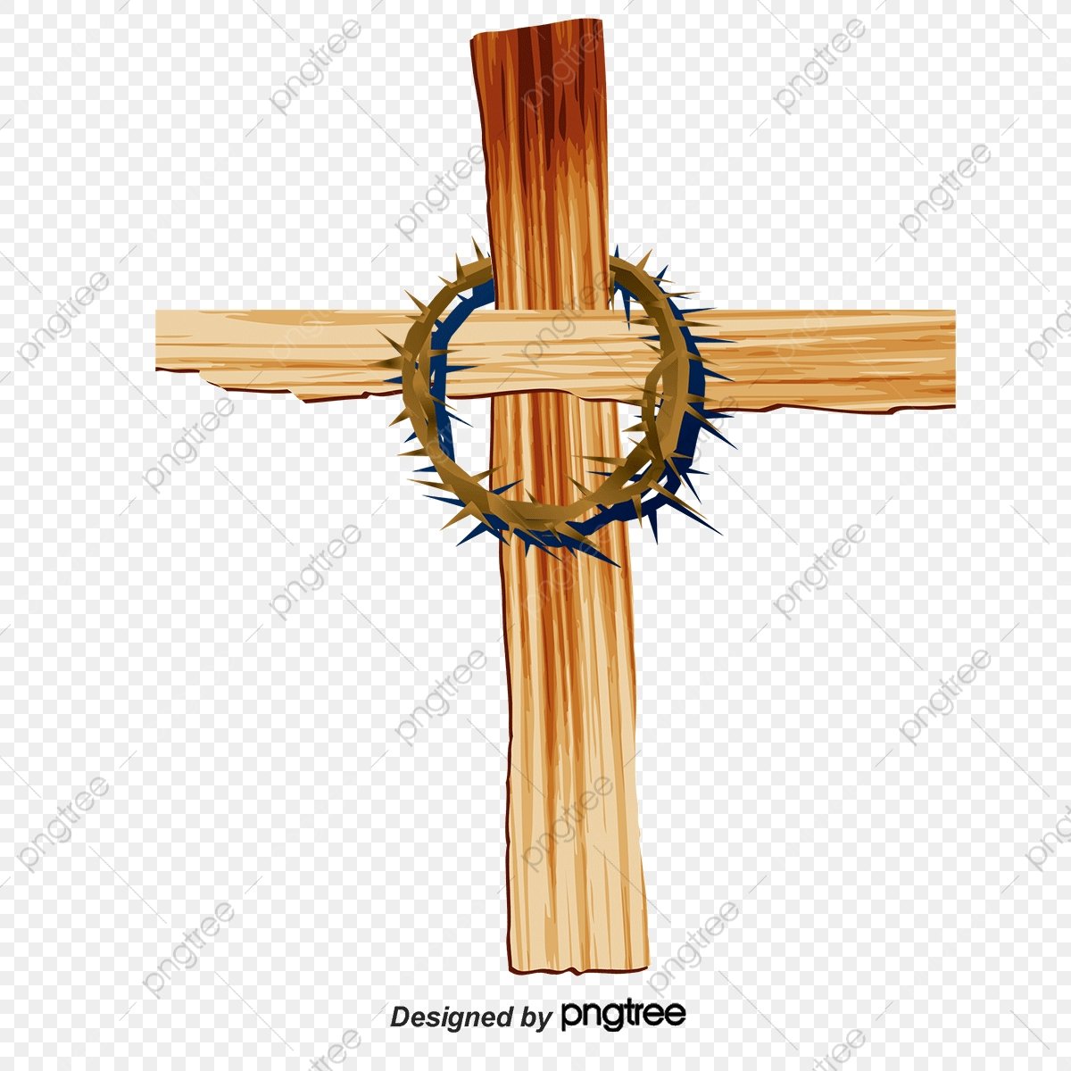 Cartoon Bound Jesus Cross Rattan, Wood Crosss, Cross, Cross Vector.