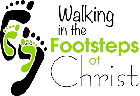 Jesus footprints clipart.