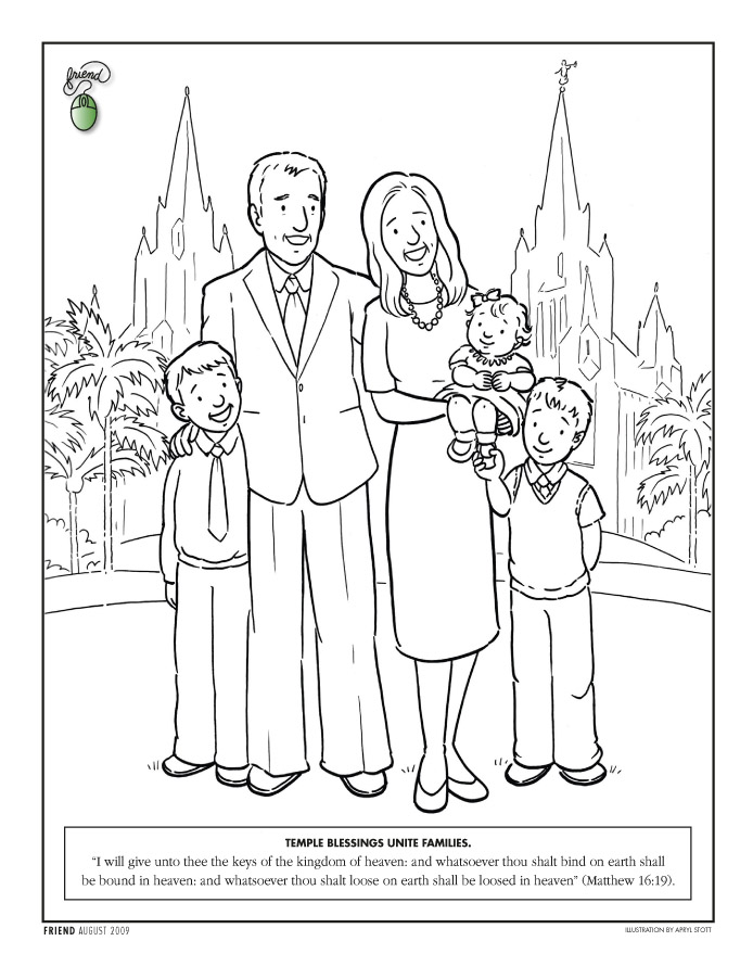 Lds Free Coloring Pages.