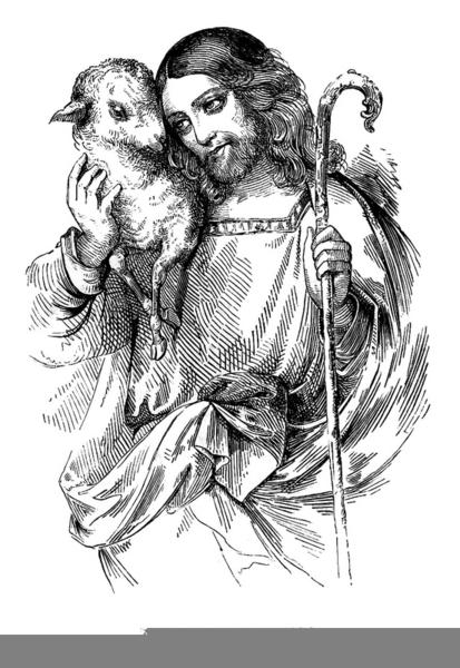 Free Clipart Of Jesus The Good Shepherd.