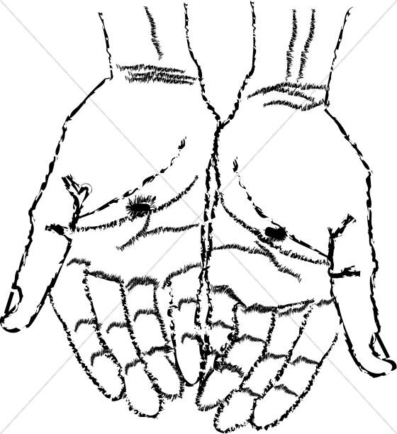 Hands Of Jesus Clipart.