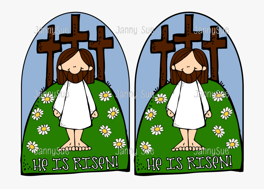 Jesus The He Is Risen Easter Craft Ⓒ.