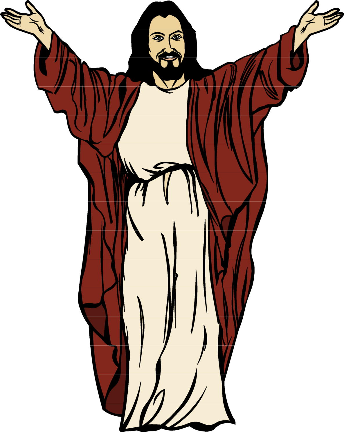 Download Christ Drawing Cartoon Jesus Free Clipart HD HQ PNG.