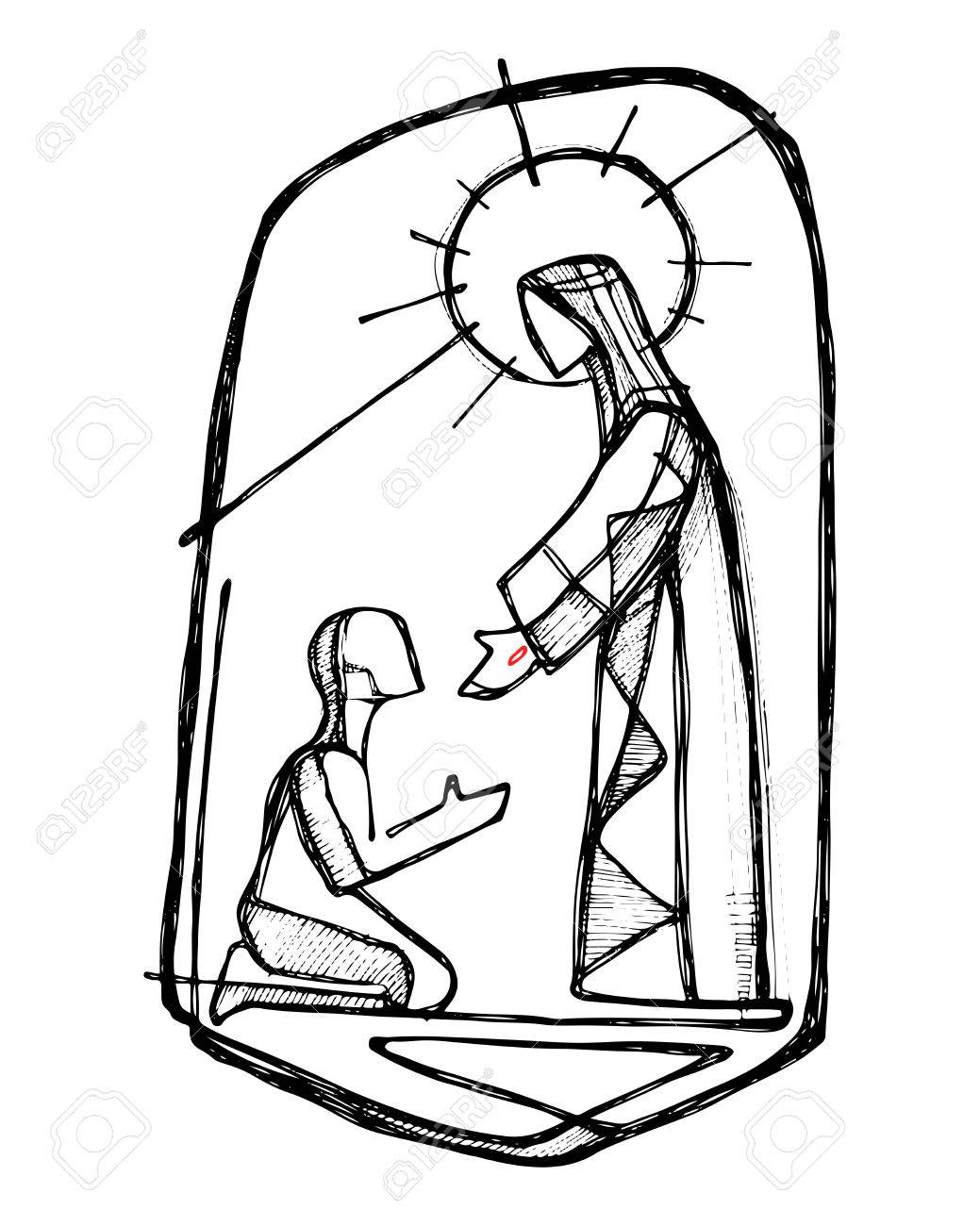 98 Jesus Healing Stock Vector Illustration And Royalty Free Jesus.
