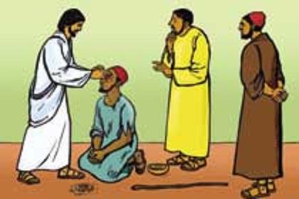 Jesus Healing The Sick Clipart.