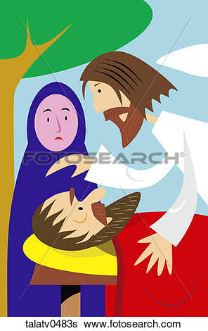 Stock Illustration of Jesus Heals Sick People talatv0483s.
