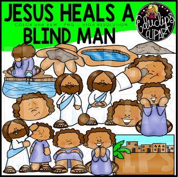 Jesus Heals A Blind Man Clip Art Set {Educlips Clipart}.