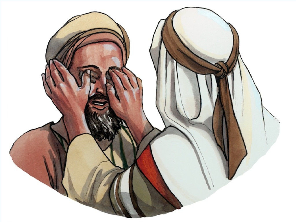 FreeBibleimages :: Jesus heals a man born blind :: When.