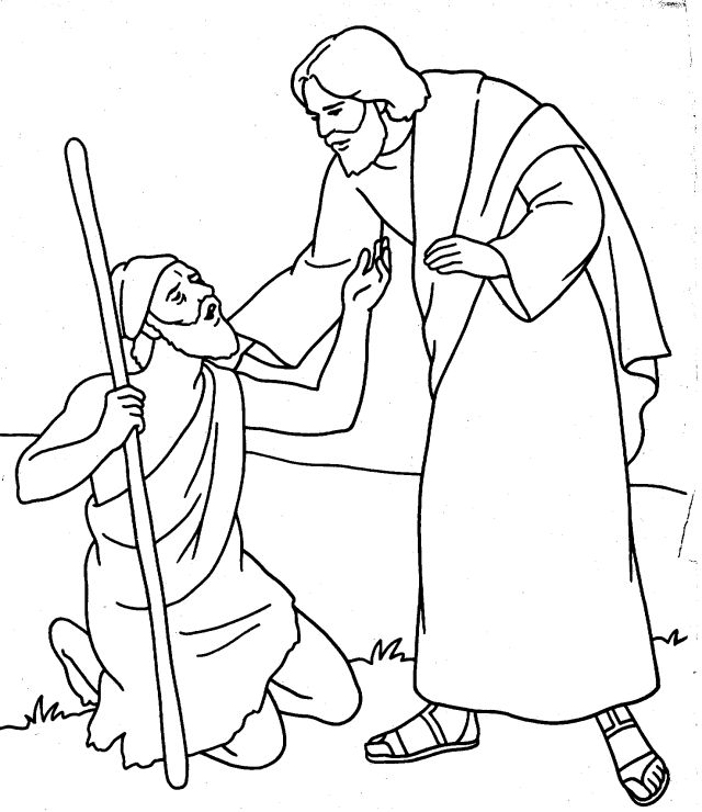 Jesus heals the paralytic clipart clipground for Jesus heals a paralytic coloring page