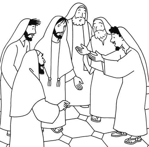 Miracles of Jesus Coloring Pages.