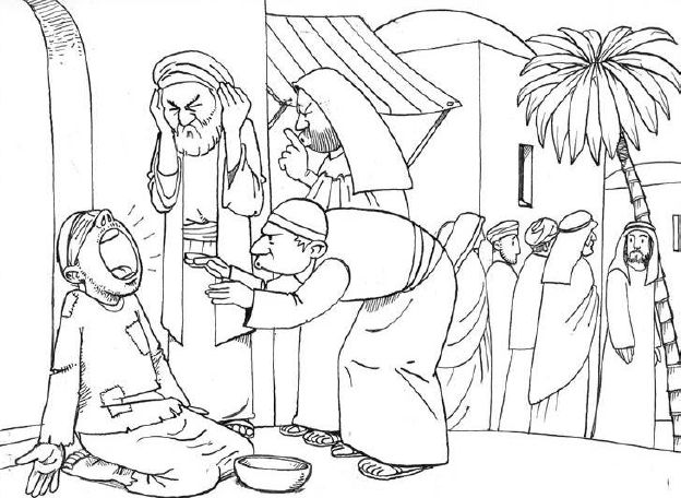 jesus heals the paralytic clipart - Clipground