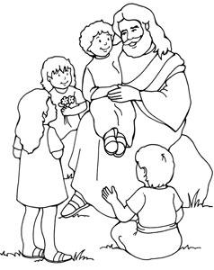 Jesus Holding Child Clipart.