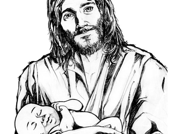 Jesus Holding A Child Clipart Free.