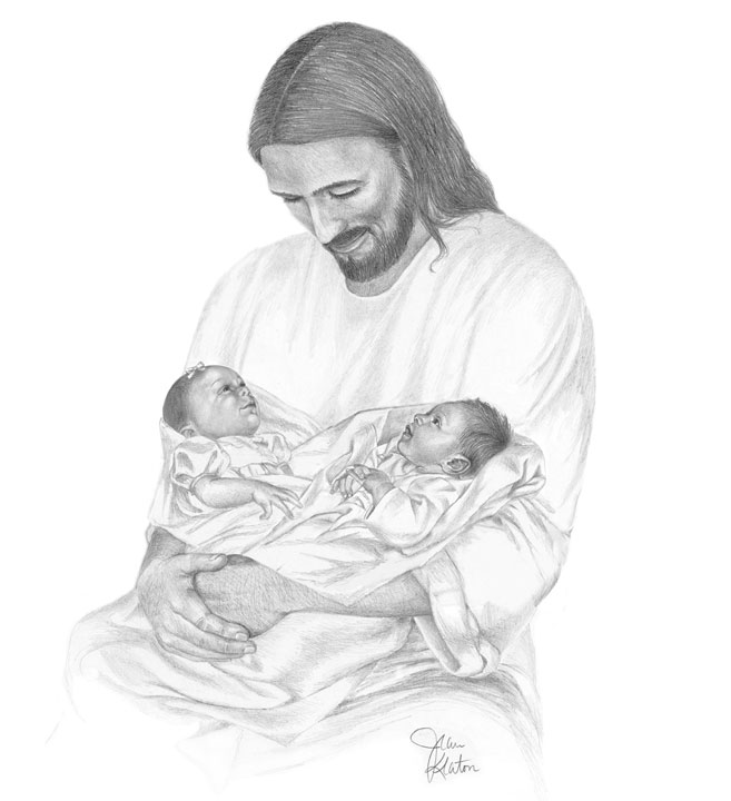 Sketch Of Jesus Holding Baby Pictures to Pin on Pinterest.