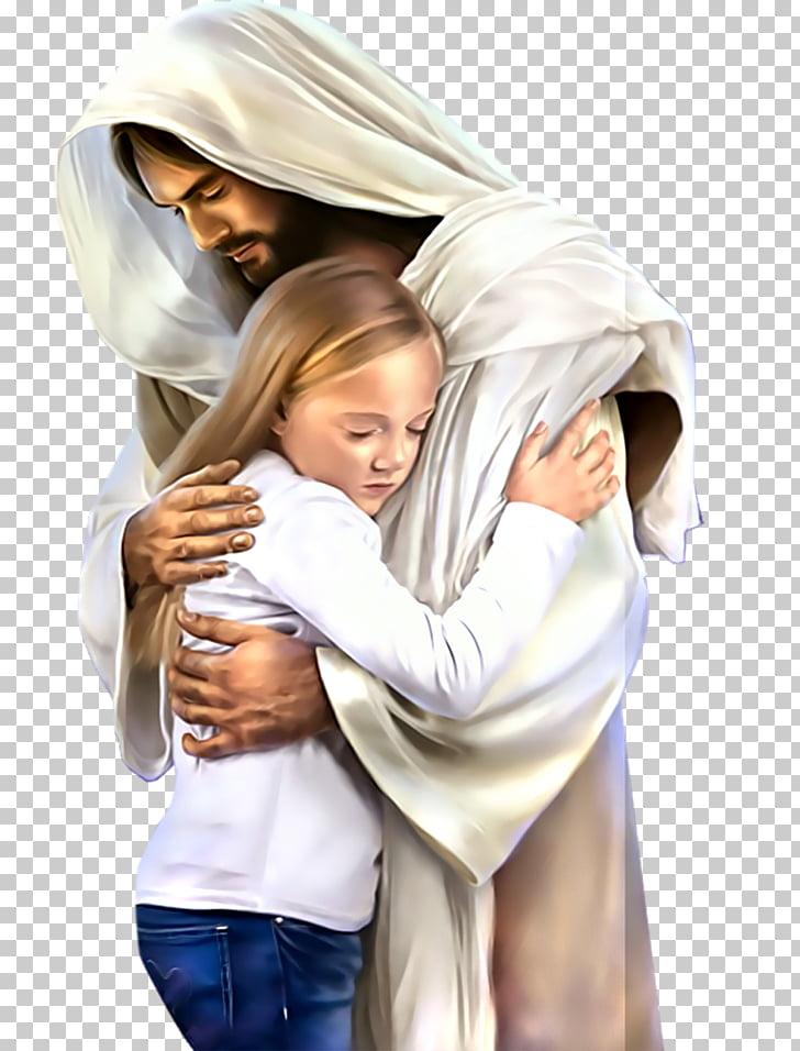 Yeshua Christianity , Jesus, girl hugging man illustration.