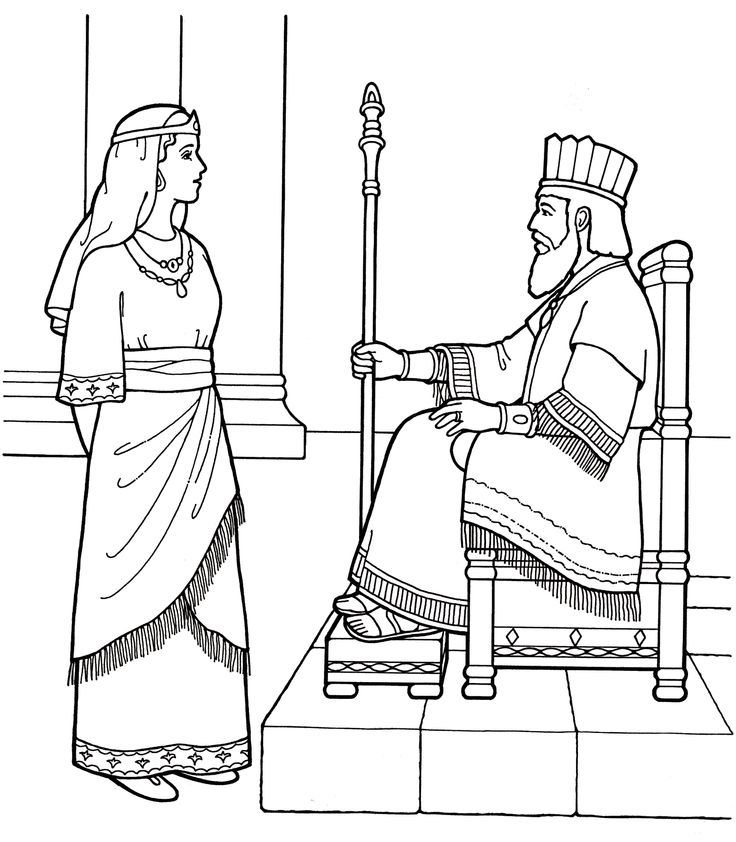 Esther Bible Coloring Pages.