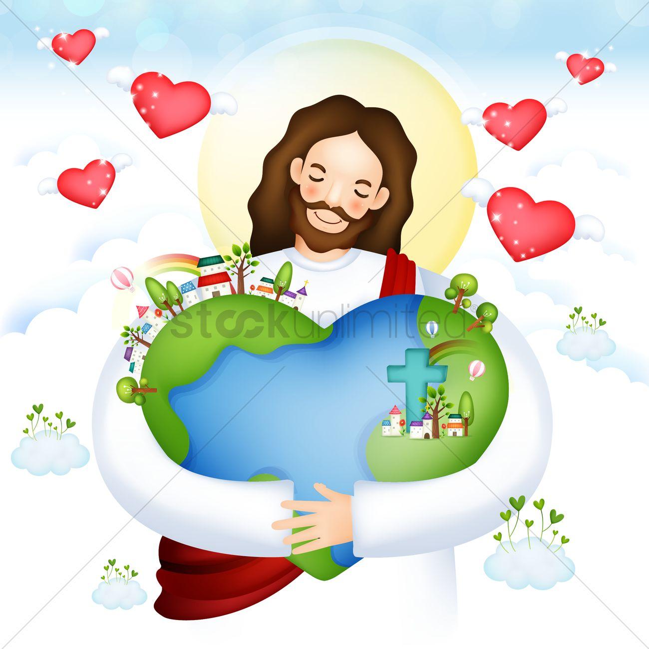 Jesus Hugging Child Clipart.