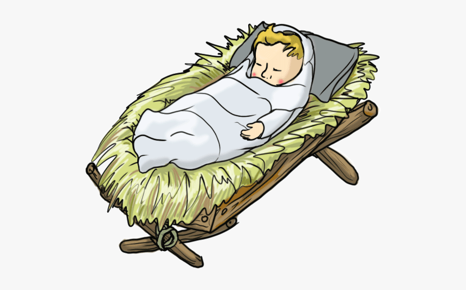 Baby Jesus In A Manger Clipart.