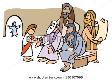 Jesus In The Temple Clipart.