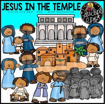Jesus In The Temple Clip Art Set {Educlips Clipart}.