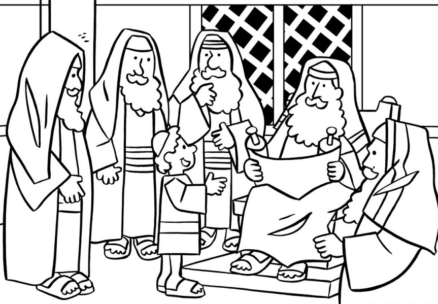Finding Jesus In The Temple Coloring Pages.