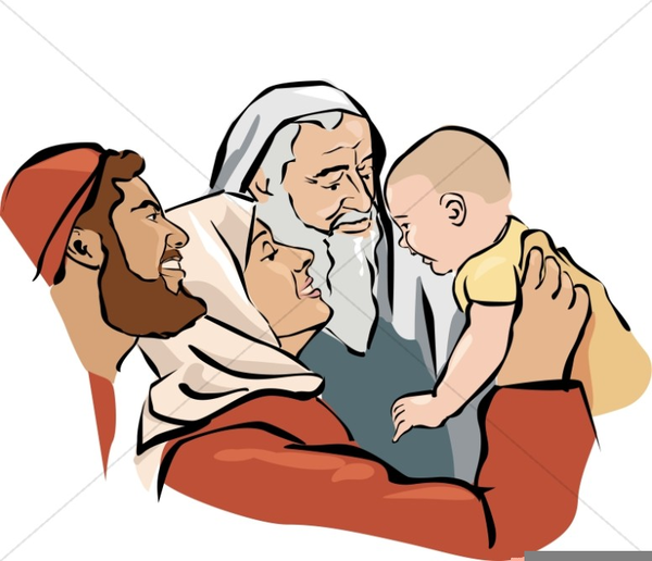 Presentation Of Jesus In The Temple Clipart.