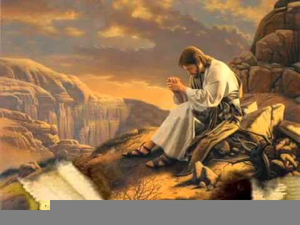 Jesus Tempted In The Desert Clipart.