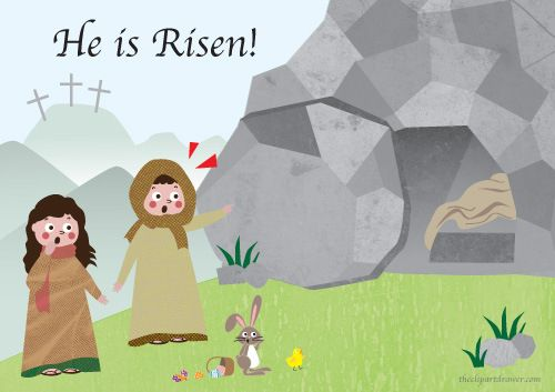 Jesus Is Risen Clipart Clipground