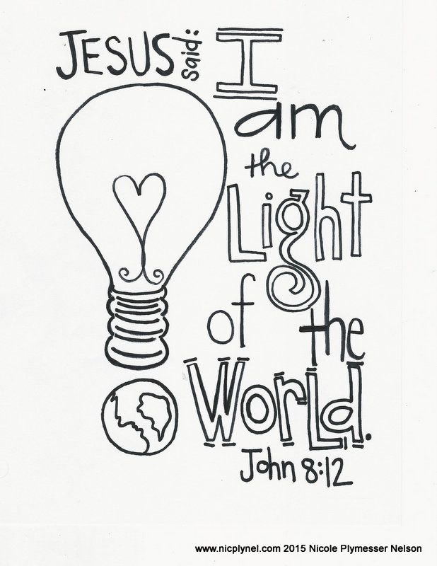 Jesus Light Of The World Clipart.