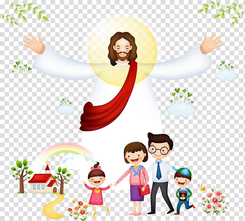 Jesus Christ , Bible Christianity , Jesus with children.