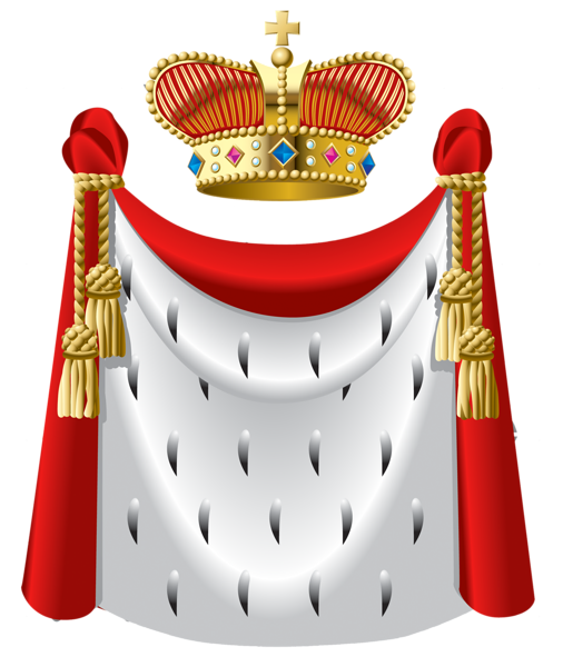 King Crown and Cape PNG Clipart.