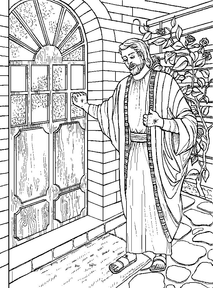 Coloring pages of jesus standing ~ jesus knocking clipart 20 free Cliparts | Download images ...