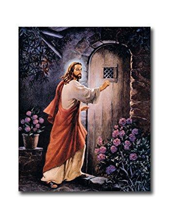 Amazon.com: Jesus Knocking On Your Door # 2 Religious Wall Picture.