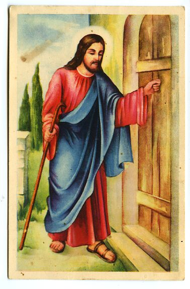 Jesus Knocking On Door Clipart.