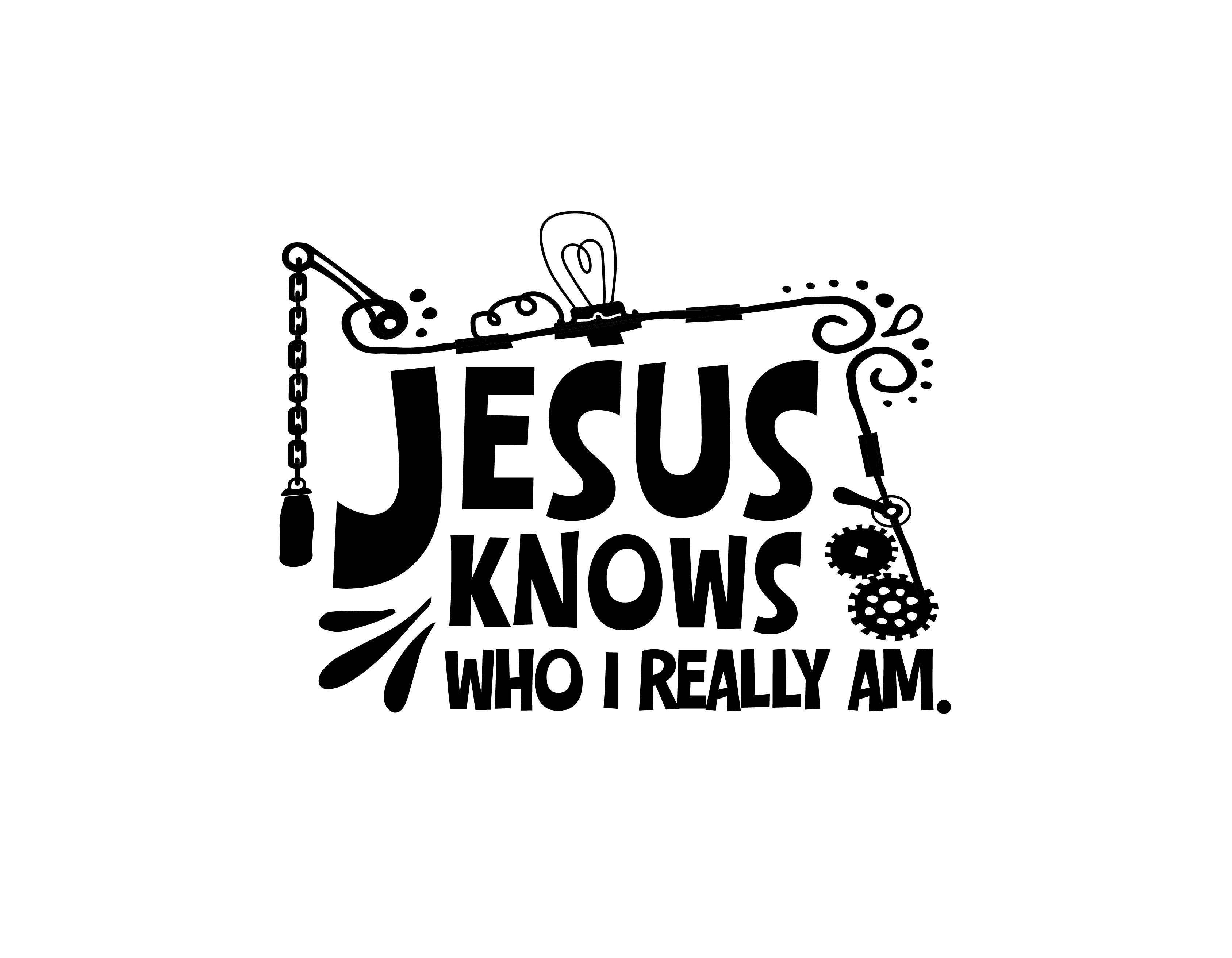 Jesus know who submerged clipart.
