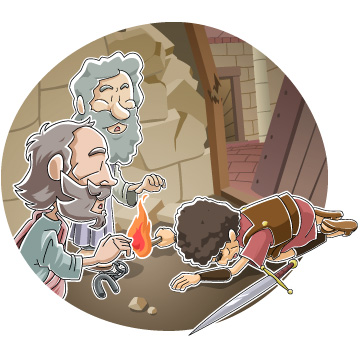 Paul and Silas in Prison ~ Free Acts 16 Bible Lesson for Kids.