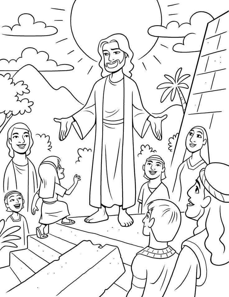 Lds Jesus Coloring Pages.