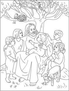 Jesus Loves Me, : Jesus Loves Children and Jesus Love Me Coloring.