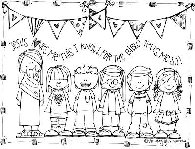 jesus loves children black and white clipart #17