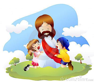 Jesus Loves Children Clipart.