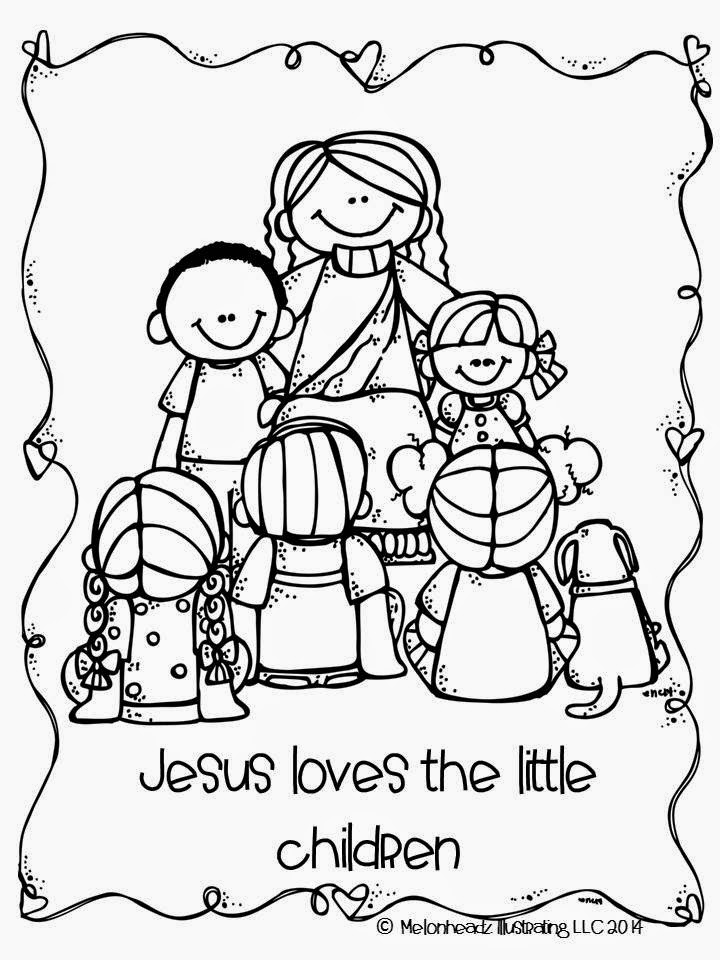 Jesus Loves Children Black And White Clipart