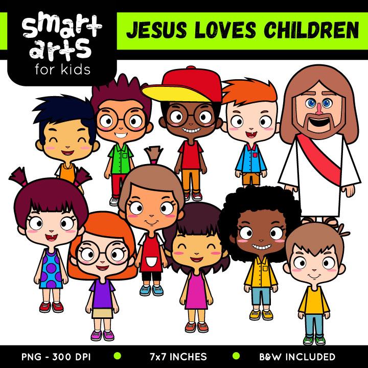 Jesus Loves Children Clip Art.