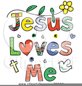 Free Jesus Loves Me Clipart.