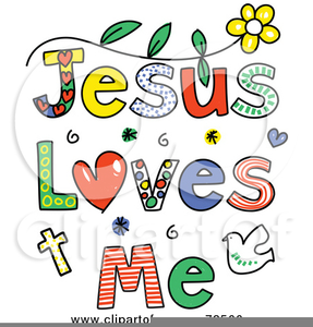 Free Jesus Loves Me Clipart.