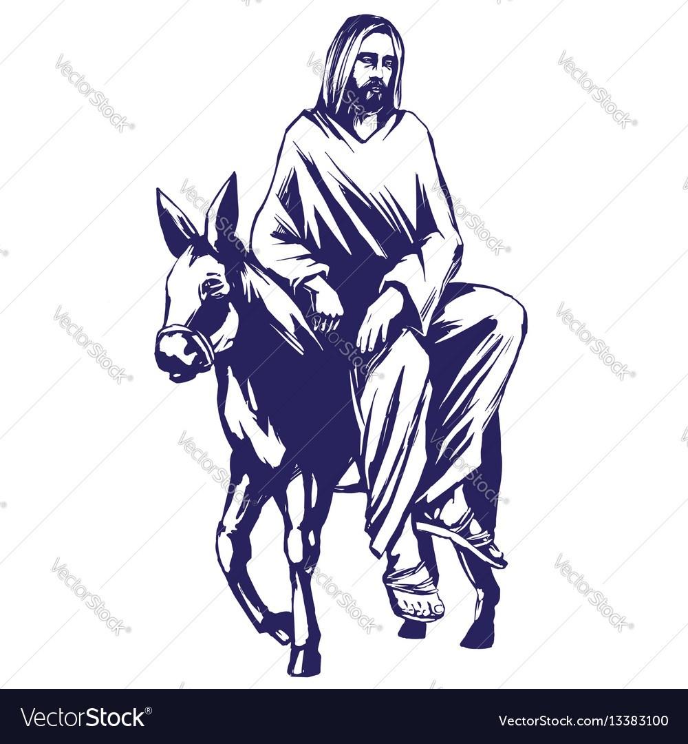 Jesus on donkey clipart 5 » Clipart Portal.