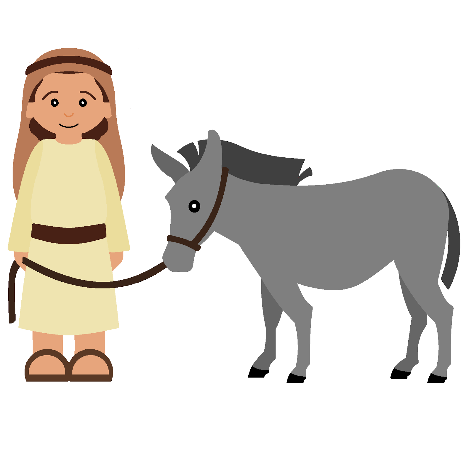 Free clipart jesus on donkey 4 » Clipart Station.