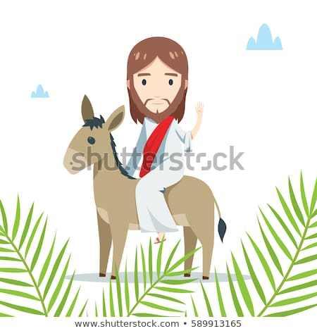 Free clipart jesus on donkey 3 » Clipart Portal.