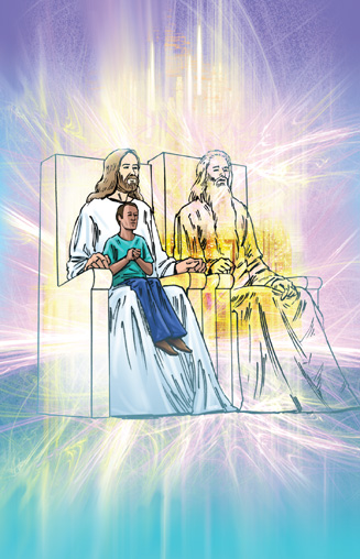 Jesus On His Throne Clipart.