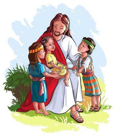684 Jesus With Kid Cliparts, Stock Vector And Royalty Free Jesus.