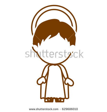 Jesus Face Silhouette Stock Images, Royalty.